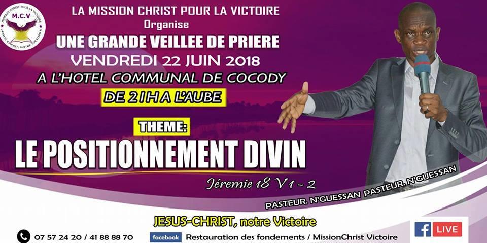 L'affiche de la veillée de la Mission Christ pour la Victoire